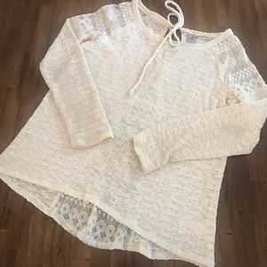 Alya Ivory Lace Blouse from Francesca's